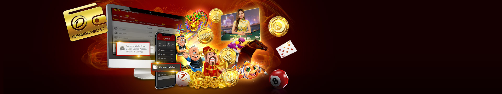 Up to 240 Malaysian Ringgit will be claimed with Dafabet Casino First Deposit Bonus
